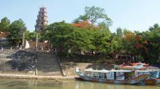 Dragon boat trip on Huong River